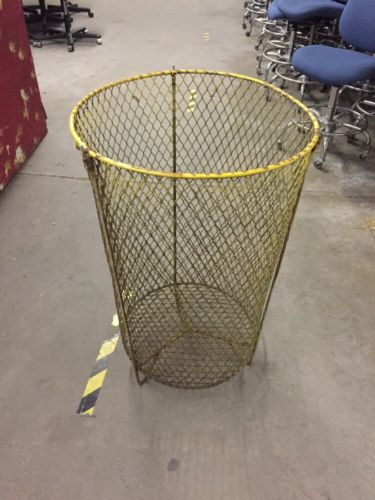 "Vintage Industrial Wire Basket Laundry Trash 22"" X 35"""