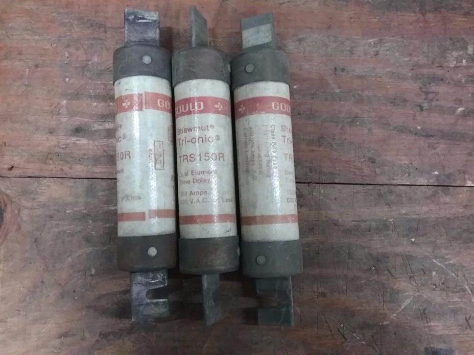Gould/Shawmut TRS150R, 600VAC, 150A Time-Delay Fuse**Lot of 3**