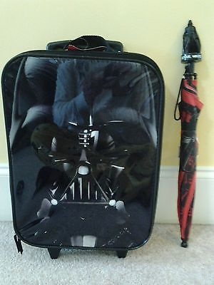 Star Wars Darth Vader Suitcase & Umbrella Set New With Tags