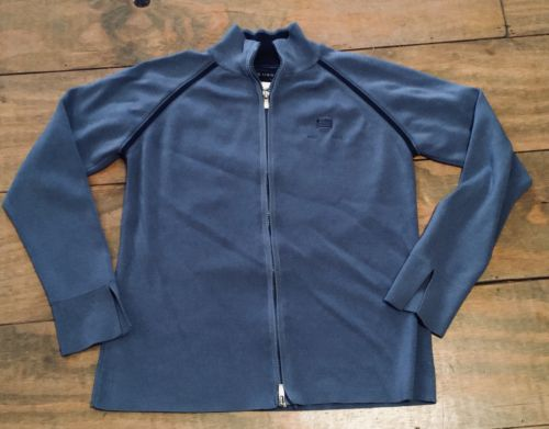US Airways Stan Herman Twin Hill Blue Flight Attendant Zip Sweater Medium