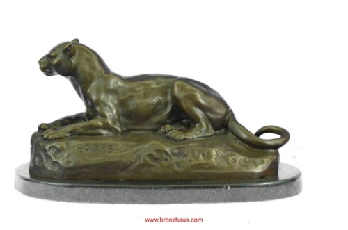 Cougar Mountain Lion Bronze Sculpture 4.5