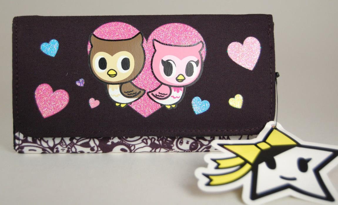 NWT Neon star Tokidoki owl nylon owl snap wallet