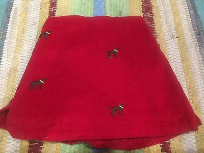 Toddlers Pink Cotton Girls Red Corduroy Skirt (Skort) Size 6-12 Mos