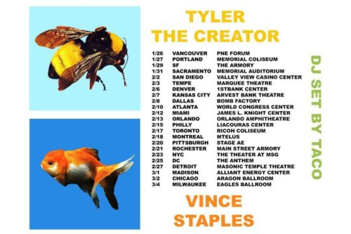 SOLD OUT Tyler The Creator Vince Staples Ticket Feb 25 The Anthem Washington DC