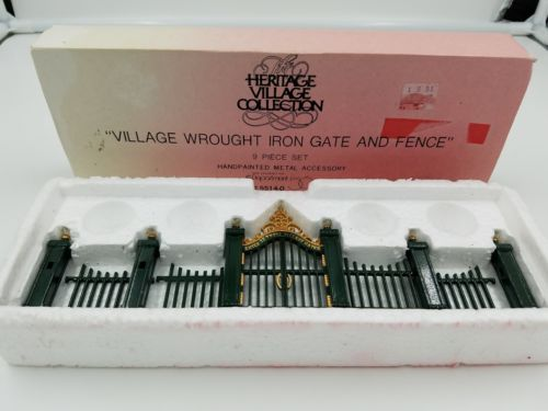 Dept. 56 Dickens Village Wrought Iron gate and fence with box
