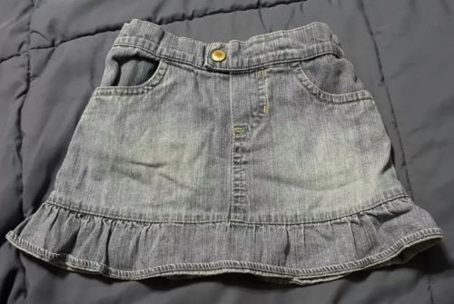 OLD NAVY toddler girl 18-24 months blue jean skirt
