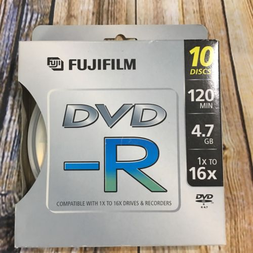FujiFilm DVD-R 120 min 4.7 gb 10pk New In Box