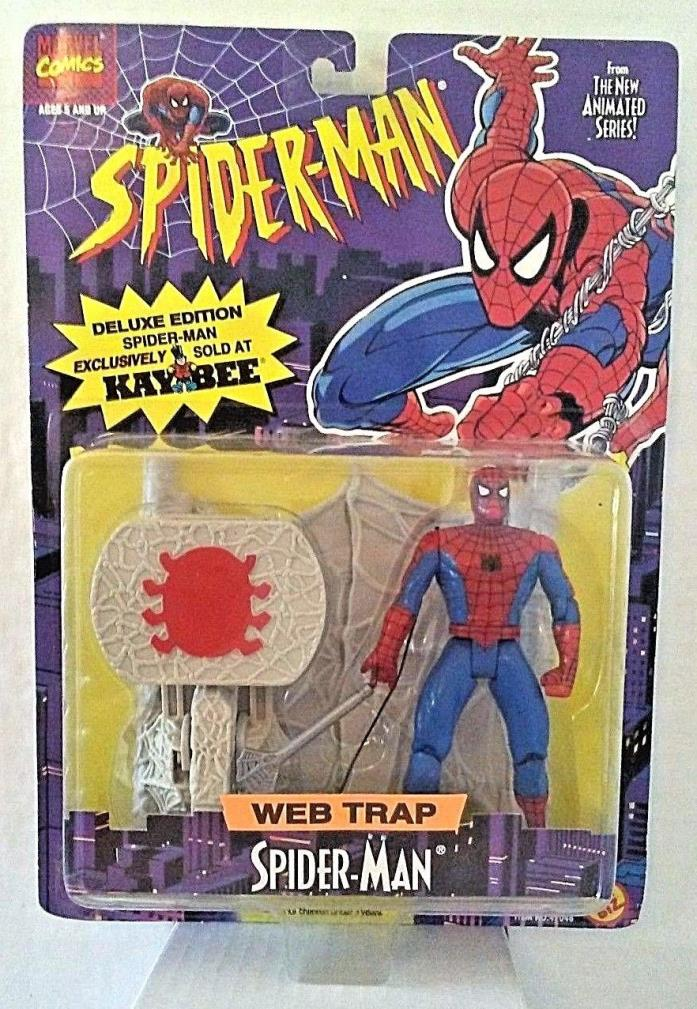 Marvel Web Trap Spider-Man Action Figure Kaybee Deluxe Edition Toy Biz 1995