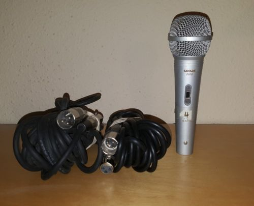 Shure 8800 Wired Microphone with Handheld W/ 60' of cords and stand  PGX4
