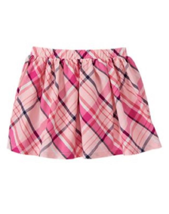 NWT Gymboree Pretty Poppy Plaid Skirt 5