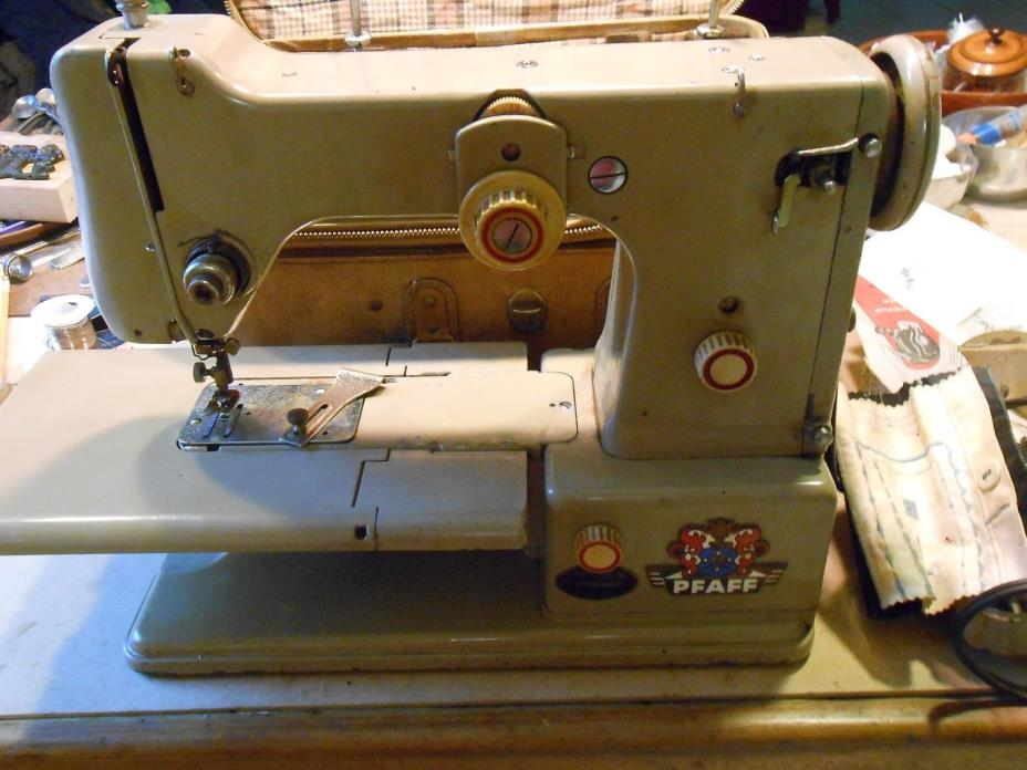 1952 Pfaff  Model 330 Sewing Machine All Papers & Attachmnts.
