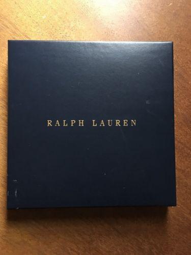 RALPH LAUREN Navy Blue Square Gift Box **9.25