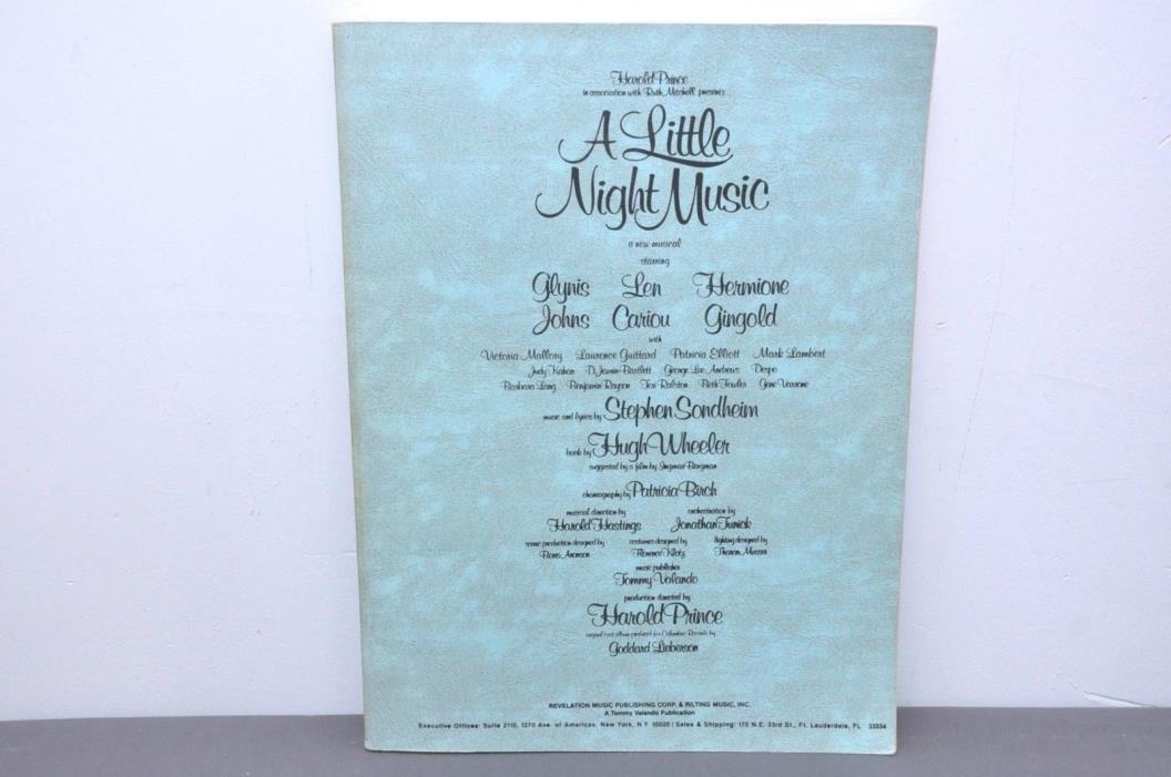 A Little Night Music (vocal score) Paperback 1974