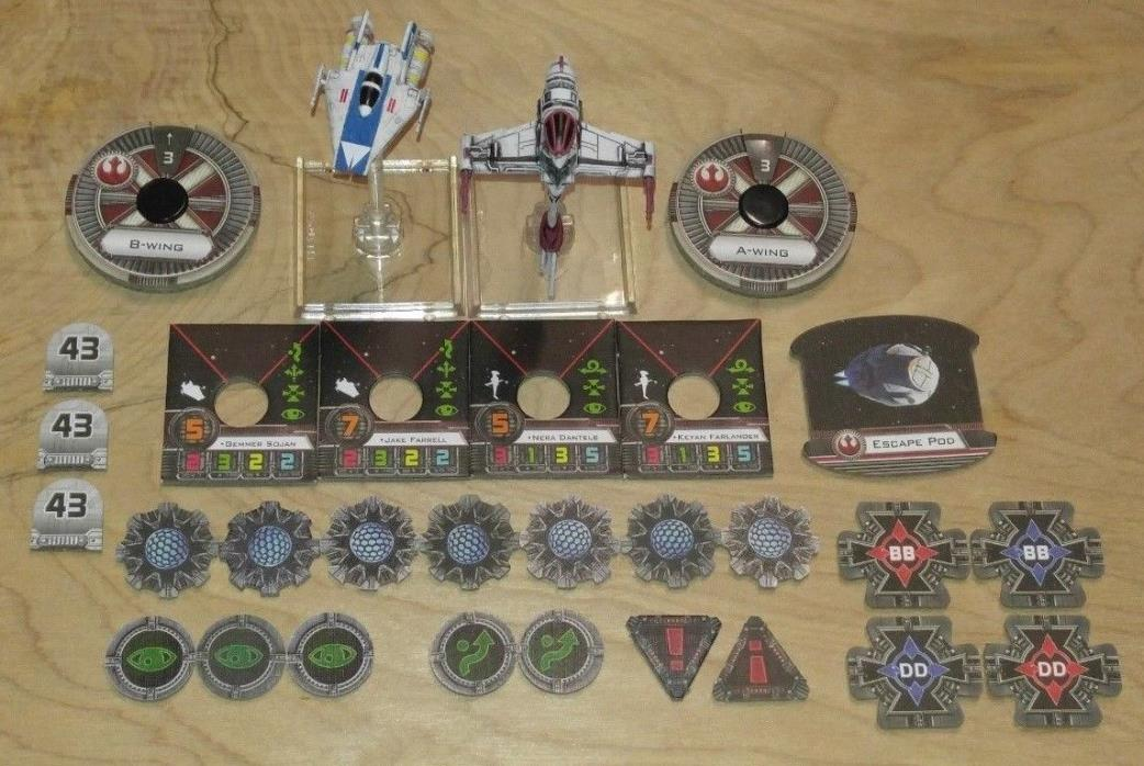 Star Wars X-Wing Miniatures Game Rebel Aces Expansion (used)