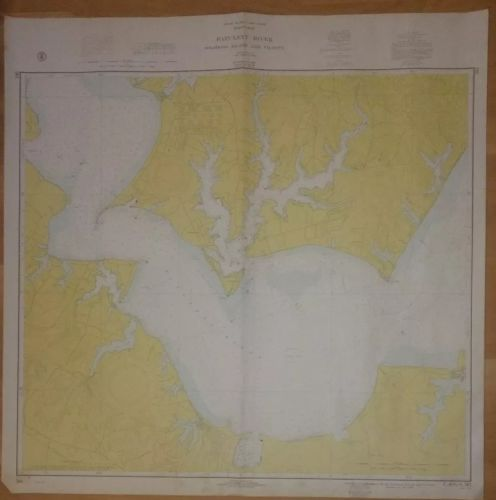Patuxent River Solomons Island and Vicinity 1968 MAP government