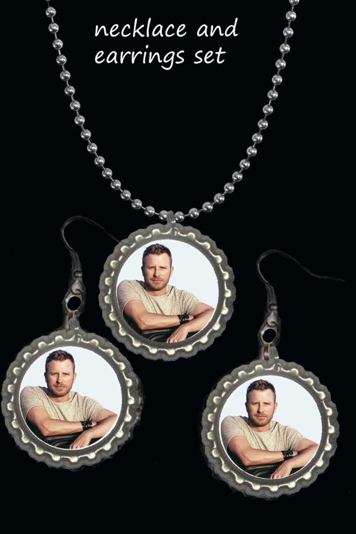 Dierks Bentley earring Earrings and necklace set great gift country music