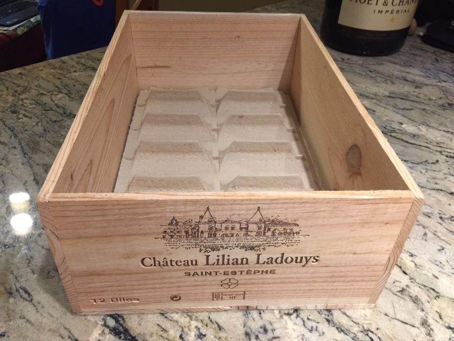 CHATEAU LILIAN LADOUYS SAINT ESTEPHE 2010 Or 2011 FRENCH PREMIUM WOOD WINE CRATE