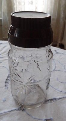 VINTAGE ANCHOR HOCKING BROWN JUICE ETCHED GLASS PITCHER WITH LID