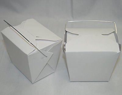 AMK Chinese To go Box 16 oz. /1 Pint 50 pcs White (wedding Favor/ Party Fa..