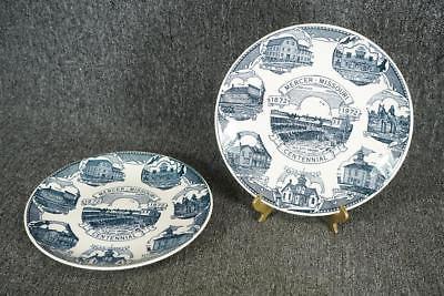 Kettlesprings Kiln Mercer Missouri 1872 - 1972 Centennial Collectors Plate X 2
