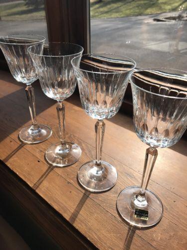 4 NEW Mikasa PARK AVENUE Wine Hock Glasses Crystal Stemware Goblets Stemware