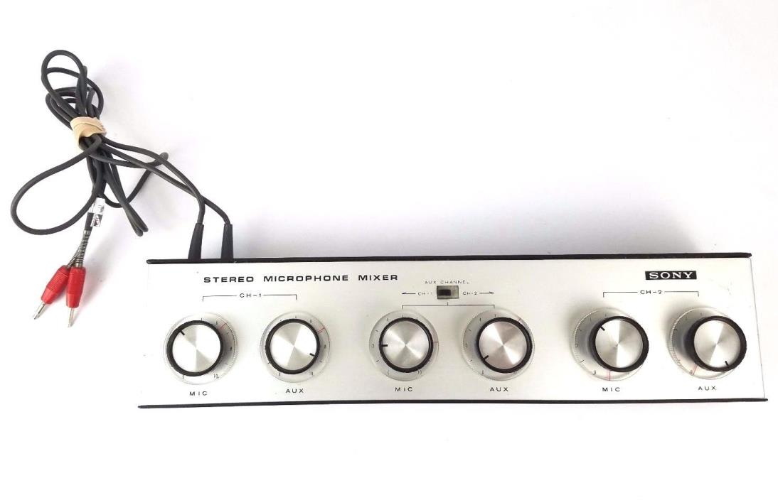 Vintage Sony MX-6S Vintage Stereo 2 Channel Microphone Mixer
