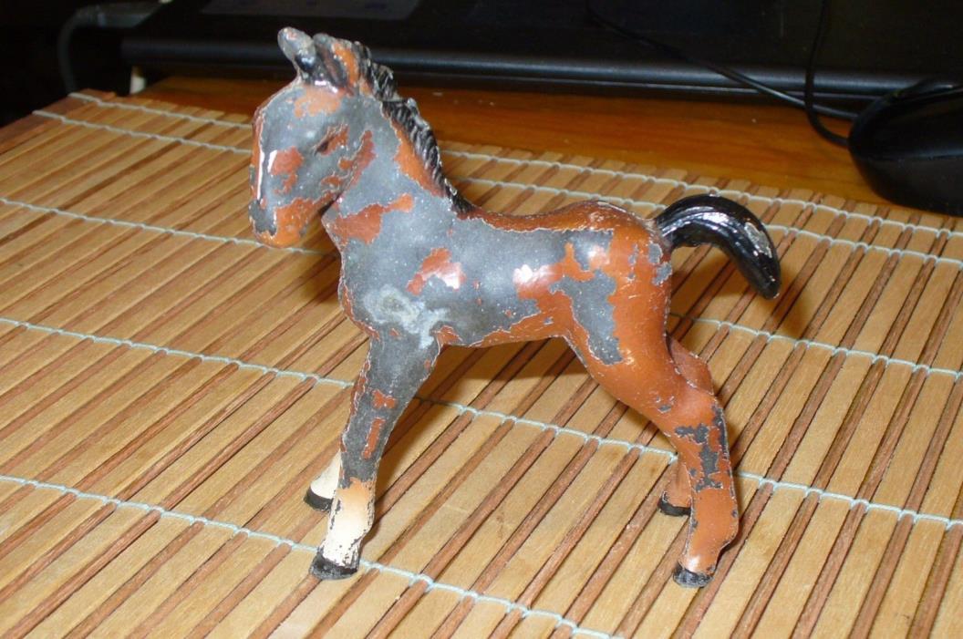 ANTIQUE/VINTAGE  CAST IRON FOAL HORSE COLT PONY
