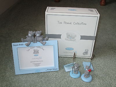 RARE NEW Carte Blanche UK ME TO YOU BEAR PHOTO FRAME FRIENDS ALWAYS & 2 HOLDERS