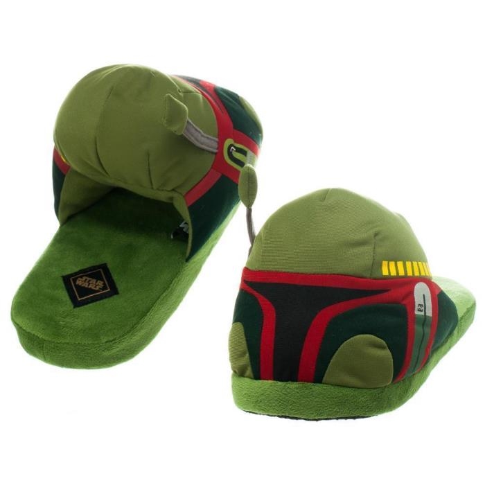 mens 10/11 boba fett slippers plush star wars new 3D large