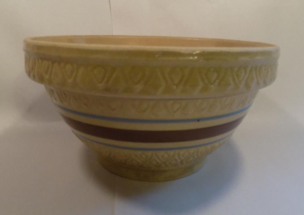 Large Yellow Ware Yellowware Stoneware Early Bowl Pottery Robinson Ransbottom