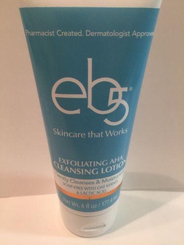 eb5 Exfoliating AHA Cleansing Lotion, 6 oz New