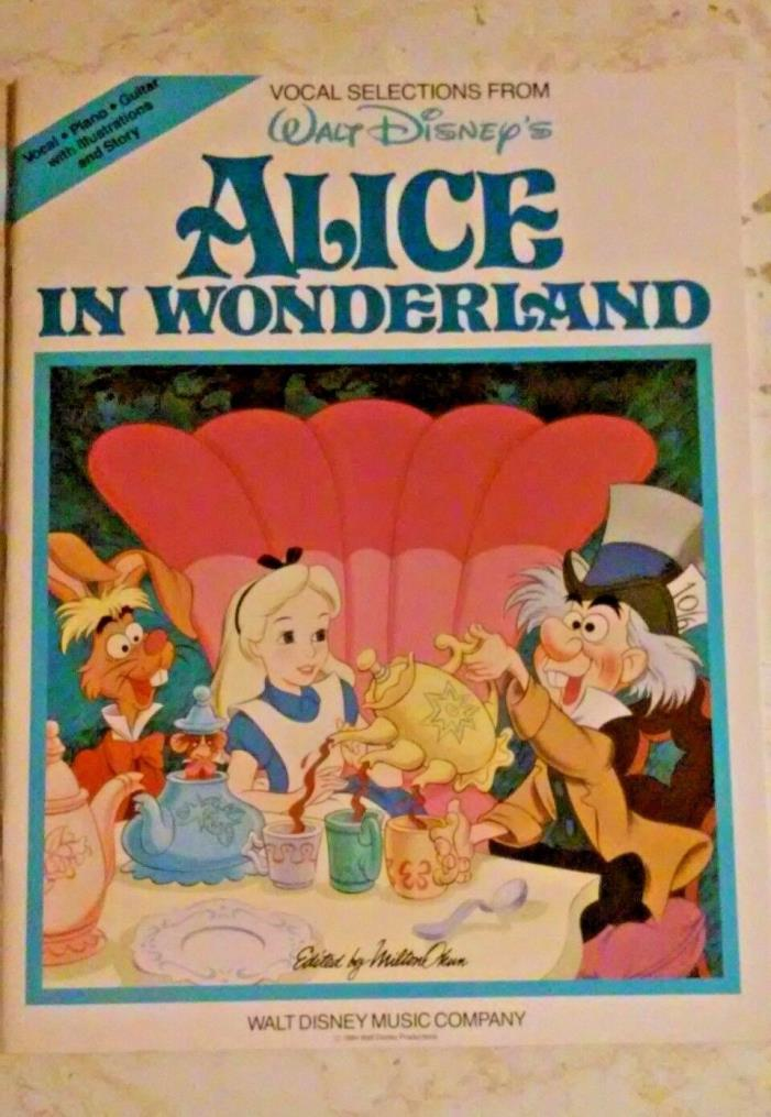 DISNEY'S ALICE IN WONDERLAND-VOCAL,PIANO & GUITAR-SONG BOOK