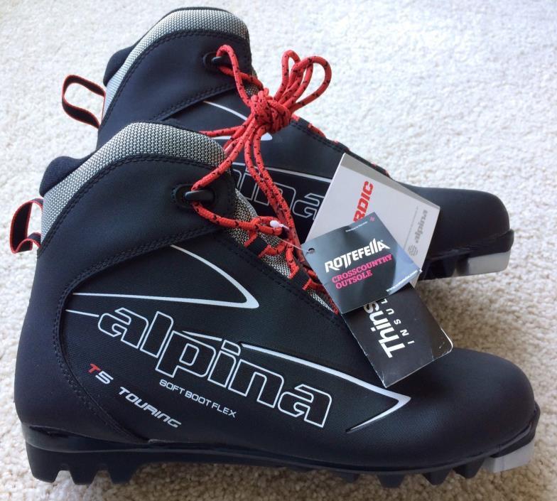 ALPINA T5 NNN Touring Cross Country Nordic Ski Boots Men 8.5 Women 9.5 EU 42 NWT