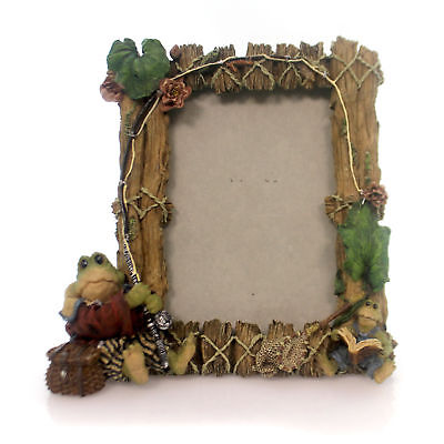 Boyds Bears Resin FROGMORTON AND TAD FLY FISHING Polyresin Photo Frame 27402