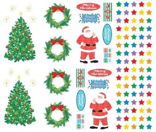 Mrs Grossman's Christmas Stickers, Set B - Stars, Trees, Wreath & Santa Says