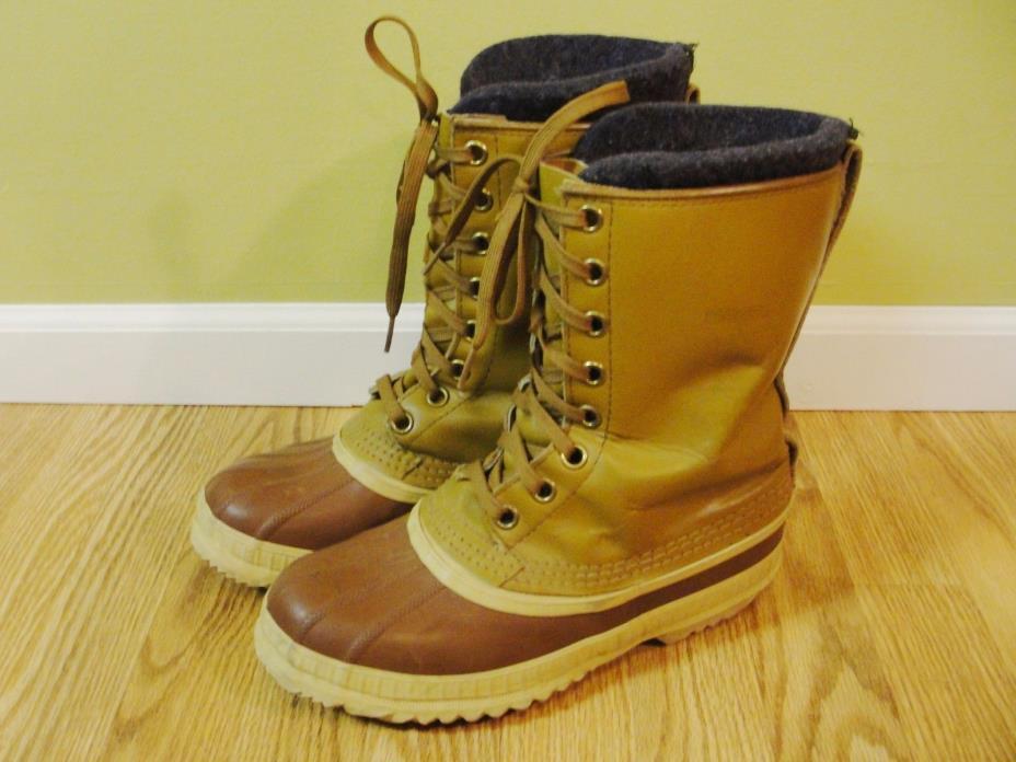 Sorel Premier Brown Winter/Snow Boots Sorel Liner Size 8 Men's Canada