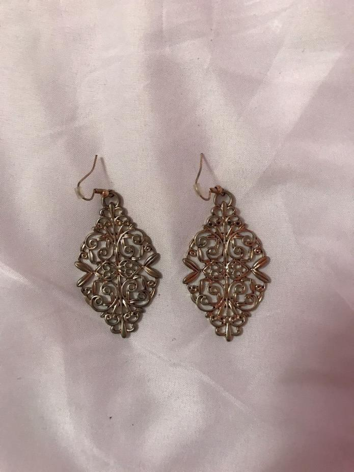 Women's Bronze Filigree Earrings