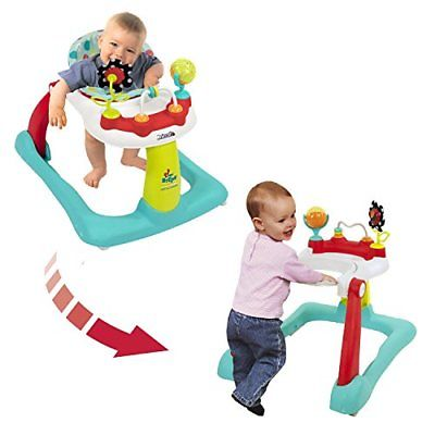 Kolcraft Tiny Steps 2-in-1 Activity Walker -Seated or Walk-Behind Position Easy
