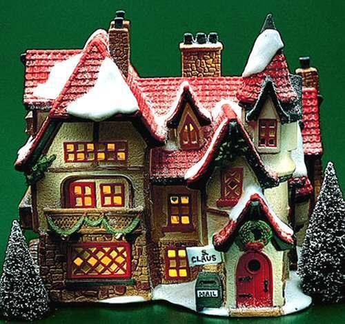 Dept 56 SANTA'S WORKSHOP Lighted Christmas Snow Village House 56006