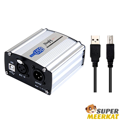 Power Supply 48V Professional For Condenser Microphone Studio Music Recording