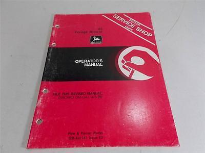 JOHN DEERE OPERATORS MANUAL 66 FORAGE BLOWERS