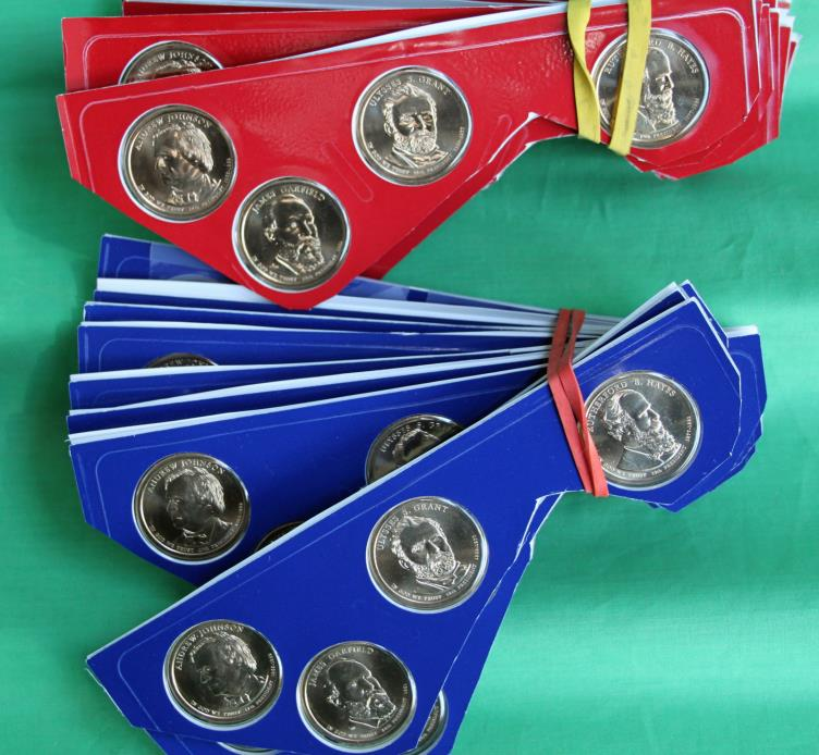 Lot of Ten 2011 P and D Presidential 8 Coin Sets Uncirculated Blister Packs $1