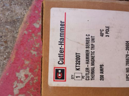 KT3200T Cutler Hammer Thermal Magnetic Trip Unit 3 Pole 200 Amp (New In Box)