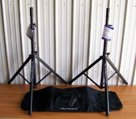 2 Ultimate Support TS70B Speaker Stands BAG90D Package!