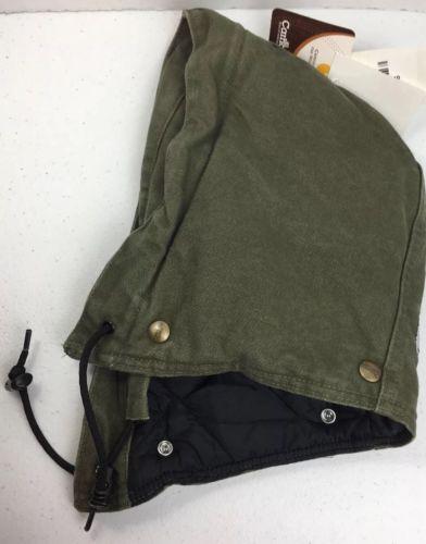 Carhartt Women's Hood Sandstone Quilt Lined A149 Button Light Green NWT  (B24)