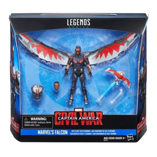 Marvel Captain America Civil War Marvel's Falcon w/ Fight Tech & Red Wing 3 3/4