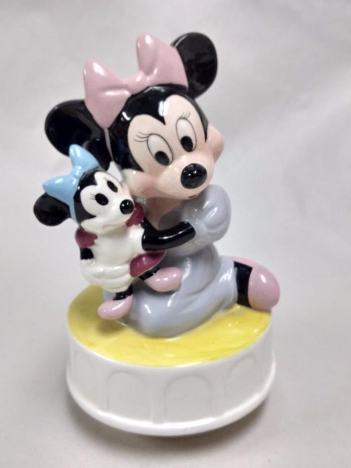 Disney Minnie Spinning Music Box Schmid Rock A Bye Baby                    hd105
