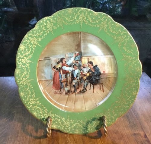 Antique Delinieres Limoges Cabinet Plate c. 1891-1900 Signed by the Artist!
