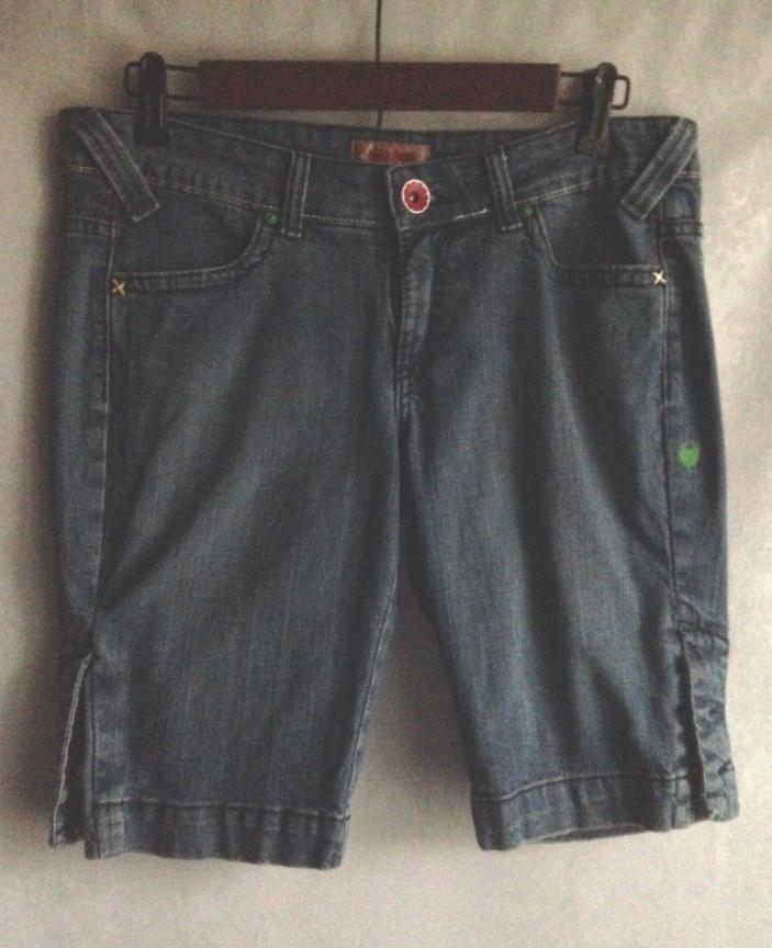 No Boundaries Shorts Cotton Stretch Blue Denim Jean Size 9