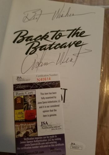 Adam West JSA Signed Book Autographed Back to the Batcave COA  Authenticated